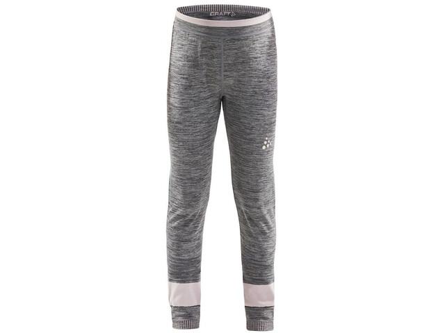 Craft Fuseknit Comfort Pants Kids dark grey melange/touch